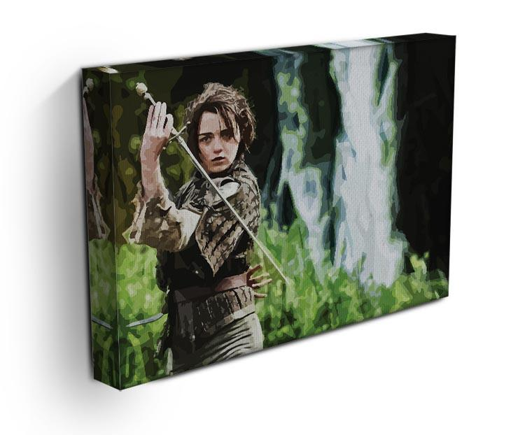 Arya from Game of Thrones Print - Canvas Art Rocks - 3
