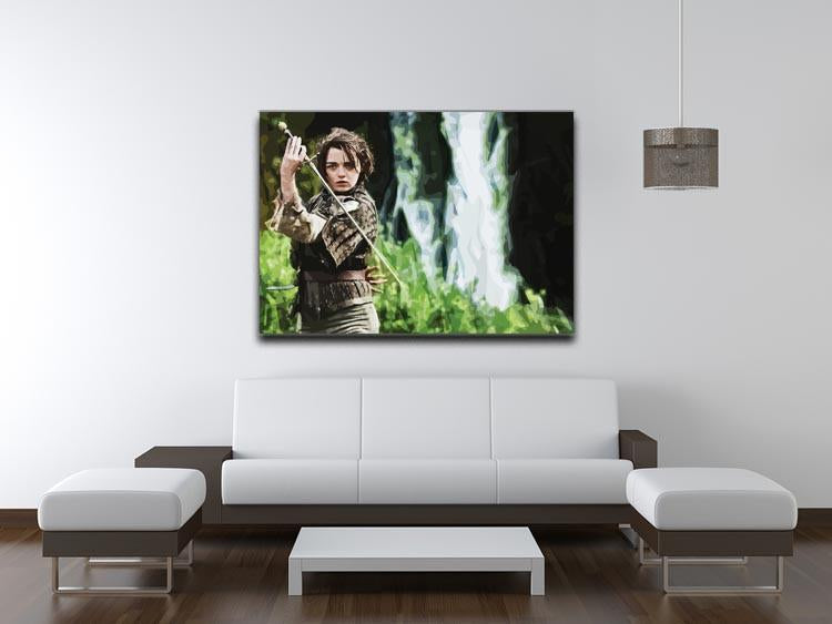 Arya from Game of Thrones Print - Canvas Art Rocks - 4