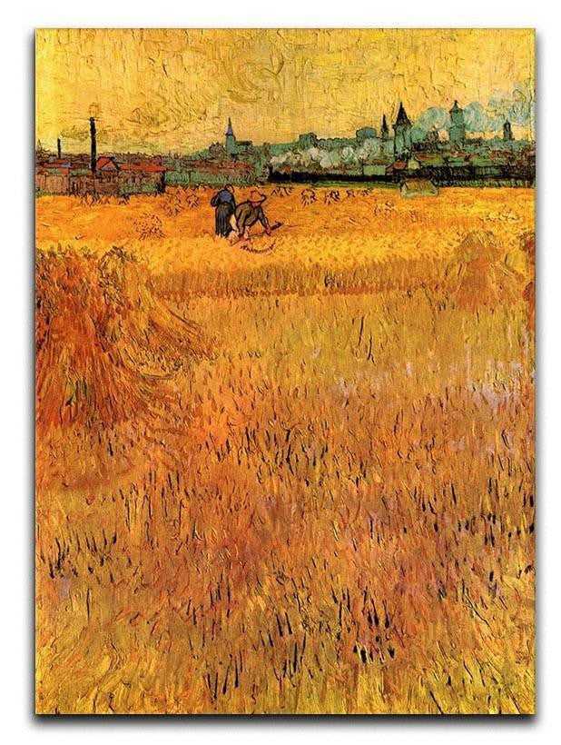 Arles View from the Wheat Fields by Van Gogh Canvas Print or Poster