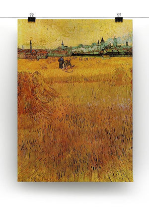 Arles View from the Wheat Fields by Van Gogh Canvas Print & Poster - Canvas Art Rocks - 2