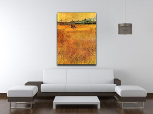 Arles View from the Wheat Fields by Van Gogh Canvas Print & Poster - Canvas Art Rocks - 4