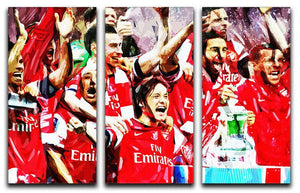 Arsenal FA Cup 3 Split Panel Canvas Print - Canvas Art Rocks - 1