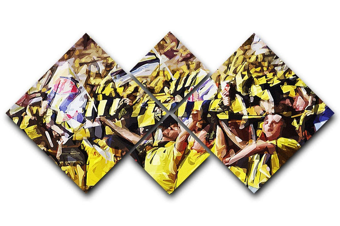 Arsenal Fans 4 Square Multi Panel Canvas