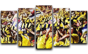Arsenal Fans 5 Split Panel Canvas  - Canvas Art Rocks - 1