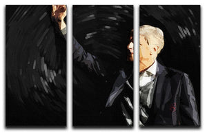 Arsene Wenger 3 Split Panel Canvas Print - Canvas Art Rocks - 1