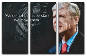 Arsene Wenger Superstars 3 Split Panel Canvas Print - Canvas Art Rocks - 1