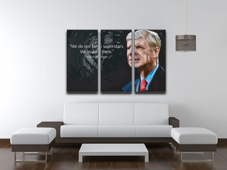 Arsene Wenger Superstars 3 Split Panel Canvas Print - Canvas Art Rocks - 3