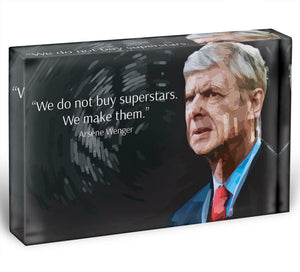 Arsene Wenger Superstars Acrylic Block - Canvas Art Rocks - 1