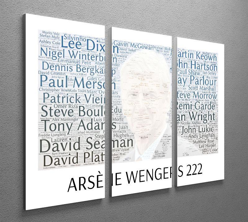 Arsene Wengers 222 Players 3 Split Panel Canvas Print - Canvas Art Rocks - 2