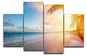 Art Beautiful sunrise 4 Split Panel Canvas - Canvas Art Rocks - 1