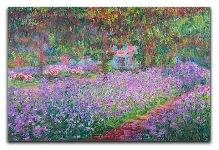 Artists Garden by Monet Canvas Print or Poster