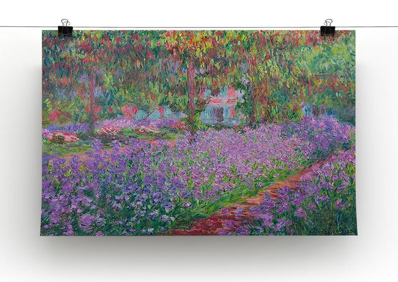 Artists Garden by Monet Canvas Print & Poster - Canvas Art Rocks - 2