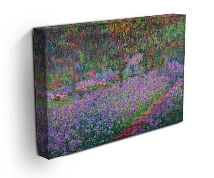 Artists Garden by Monet Canvas Print & Poster - Canvas Art Rocks - 3