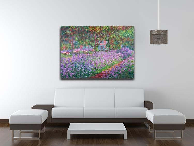 Artists Garden by Monet Canvas Print & Poster - Canvas Art Rocks - 4