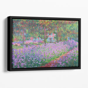 Artists Garden by Monet Floating Framed Canvas