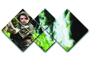 Arya from Game of Thrones 4 Square Multi Panel Canvas  - Canvas Art Rocks - 1