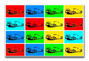 Aston Martin Vantage Pop Art Print - Canvas Art Rocks - 1