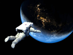 Astronaut Floating to Earth Wall Mural Wallpaper - Canvas Art Rocks - 1