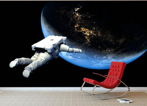 Astronaut Floating to Earth Wall Mural Wallpaper - Canvas Art Rocks - 2