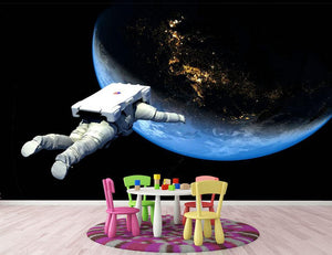 Astronaut Floating to Earth Wall Mural Wallpaper - Canvas Art Rocks - 3