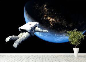 Astronaut Floating to Earth Wall Mural Wallpaper - Canvas Art Rocks - 4