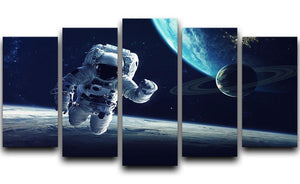 Astronaut at spacewalk 5 Split Panel Canvas  - Canvas Art Rocks - 1