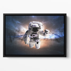 Astronaut in galaxy Floating Framed Canvas