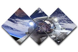 Astronaut in outer space against the backdrop 4 Square Multi Panel Canvas  - Canvas Art Rocks - 1