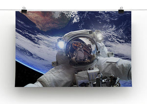 Astronaut in outer space against the backdrop Canvas Print or Poster - Canvas Art Rocks - 2