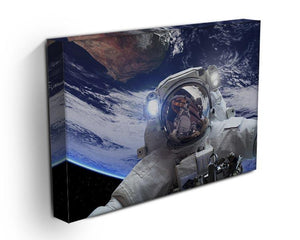 Astronaut in outer space against the backdrop Canvas Print or Poster - Canvas Art Rocks - 3