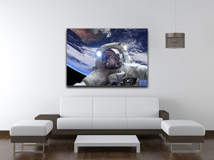 Astronaut in outer space against the backdrop Canvas Print or Poster - Canvas Art Rocks - 4