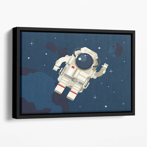 Astronaut in outer space concept vector Floating Framed Canvas