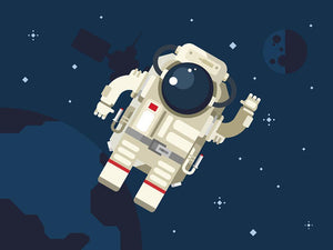 Astronaut in outer space concept vector Wall Mural Wallpaper - Canvas Art Rocks - 1