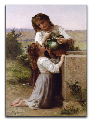 At The Fountain 2 By Bouguereau Canvas Print or Poster  - Canvas Art Rocks - 1
