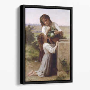 At The Fountain 2 By Bouguereau Floating Framed Canvas