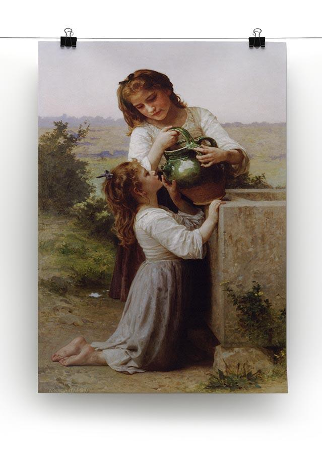 At The Fountain By Bouguereau Canvas Print or Poster - Canvas Art Rocks - 2