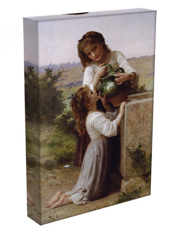 At The Fountain By Bouguereau Canvas Print or Poster - Canvas Art Rocks - 3
