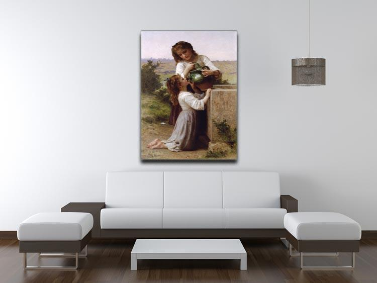 At The Fountain By Bouguereau Canvas Print or Poster - Canvas Art Rocks - 4