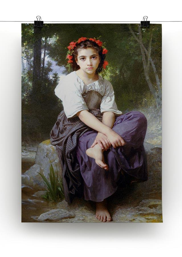 At the Edge of the Brook 2 By Bouguereau Canvas Print or Poster - Canvas Art Rocks - 2