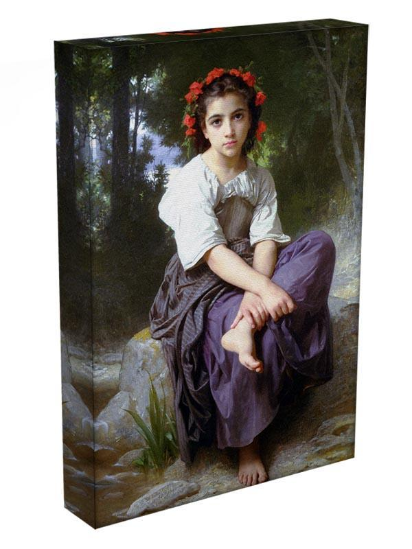 At the Edge of the Brook 2 By Bouguereau Canvas Print or Poster - Canvas Art Rocks - 3