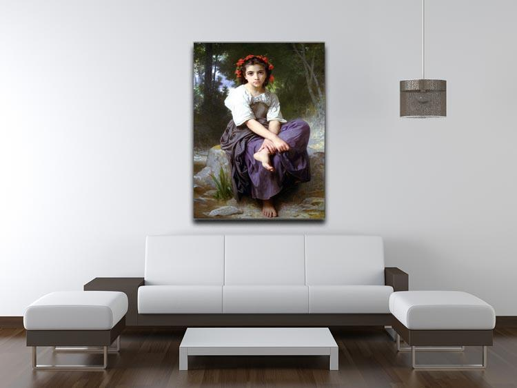 At the Edge of the Brook 2 By Bouguereau Canvas Print or Poster - Canvas Art Rocks - 4