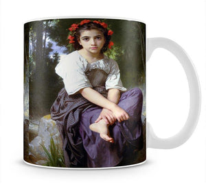 At the Edge of the Brook 2 By Bouguereau Mug - Canvas Art Rocks - 1