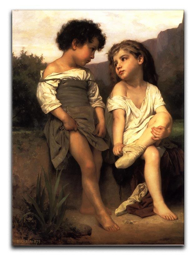 At the Edge of the Brook By Bouguereau Canvas Print or Poster  - Canvas Art Rocks - 1