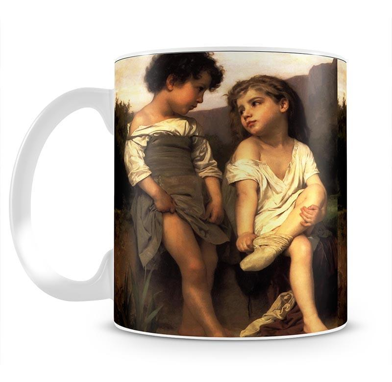 At the Edge of the Brook By Bouguereau Mug - Canvas Art Rocks - 2