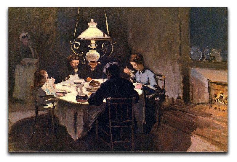 At the Table by Monet Canvas Print & Poster  - Canvas Art Rocks - 1