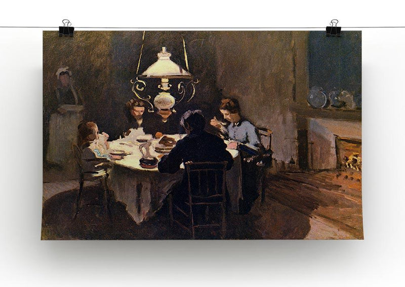 At the Table by Monet Canvas Print & Poster - Canvas Art Rocks - 2