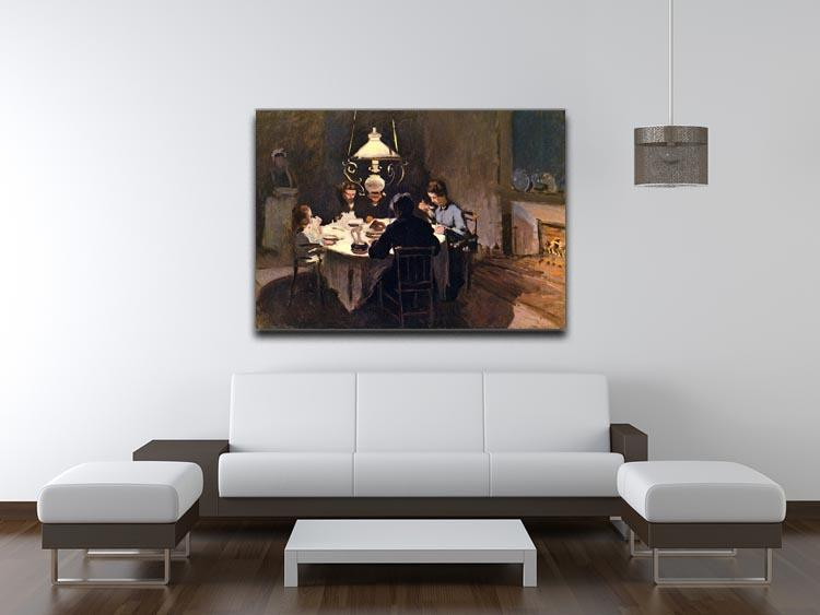 At the Table by Monet Canvas Print & Poster - Canvas Art Rocks - 4