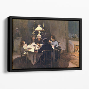 At the Table by Monet Floating Framed Canvas