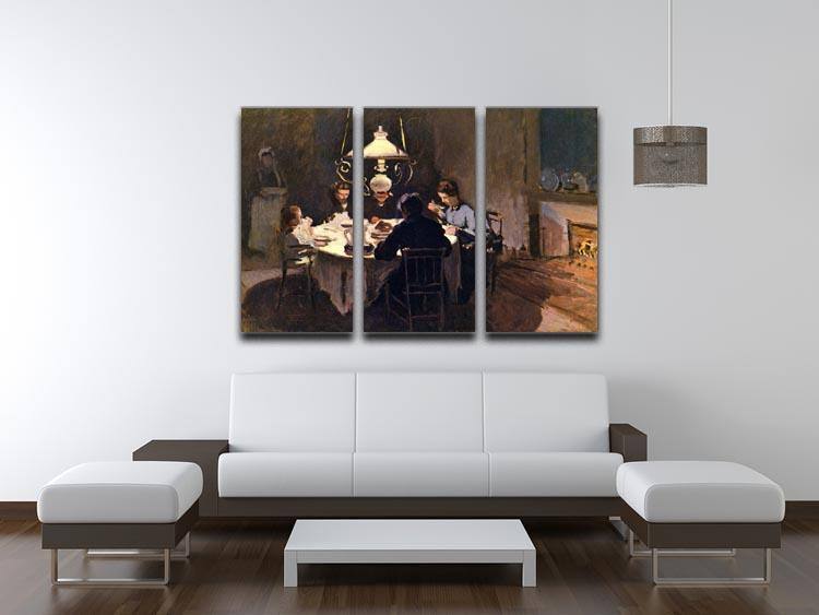 At the Table by Monet Split Panel Canvas Print - Canvas Art Rocks - 4