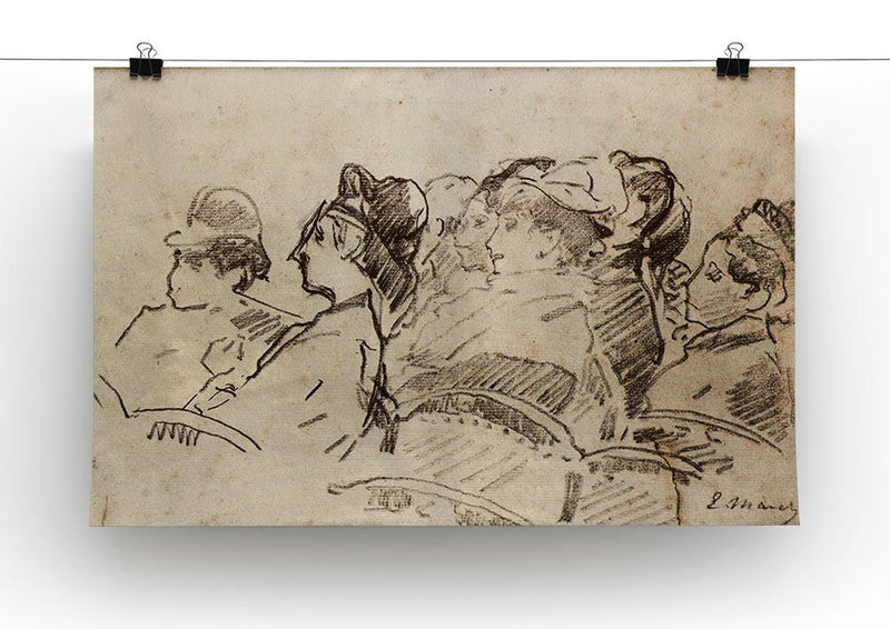At the Theater by Manet Canvas Print or Poster - Canvas Art Rocks - 2
